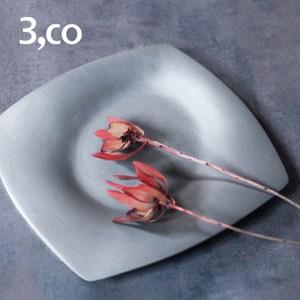 【3,co】海洋四方盤(大) - 灰