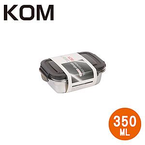【KOM】不鏽鋼保鮮盒(長方)-黑-350ML 2入350ML