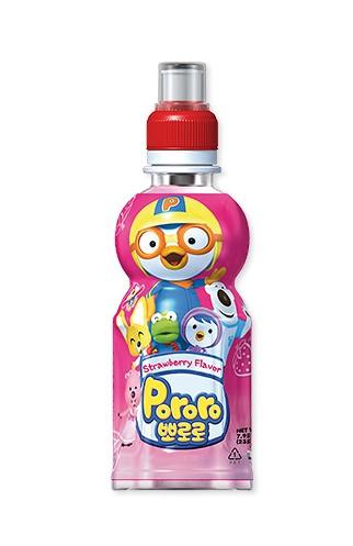 韓國 八道 PALDO PORORO 啵樂樂 乳酸飲料 草莓口味 235ML
