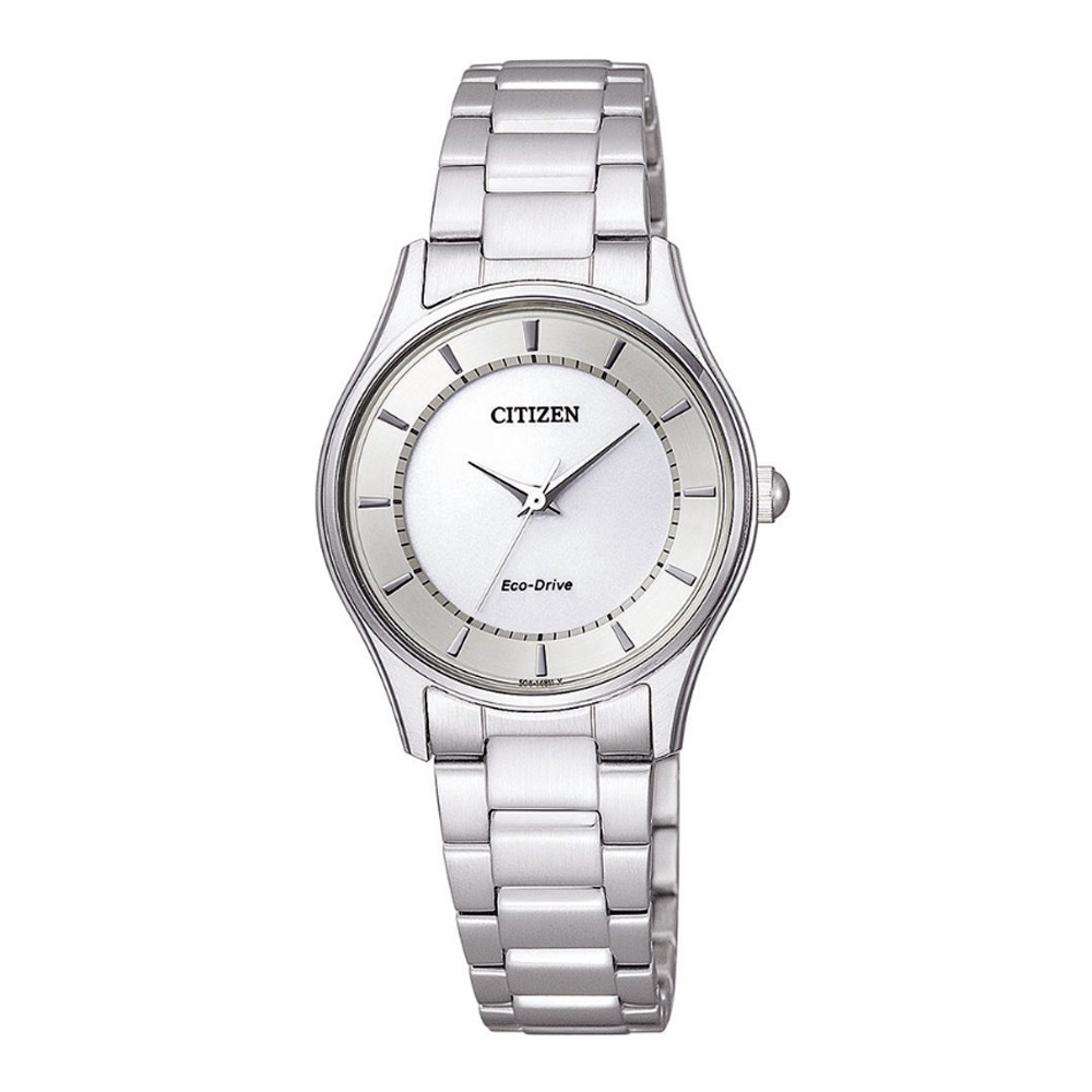 CITIZEN星辰 LADY'S時尚風格光動能女腕錶-銀X白/28mm(EM0401-59A) 送TESCOM 廠商直送