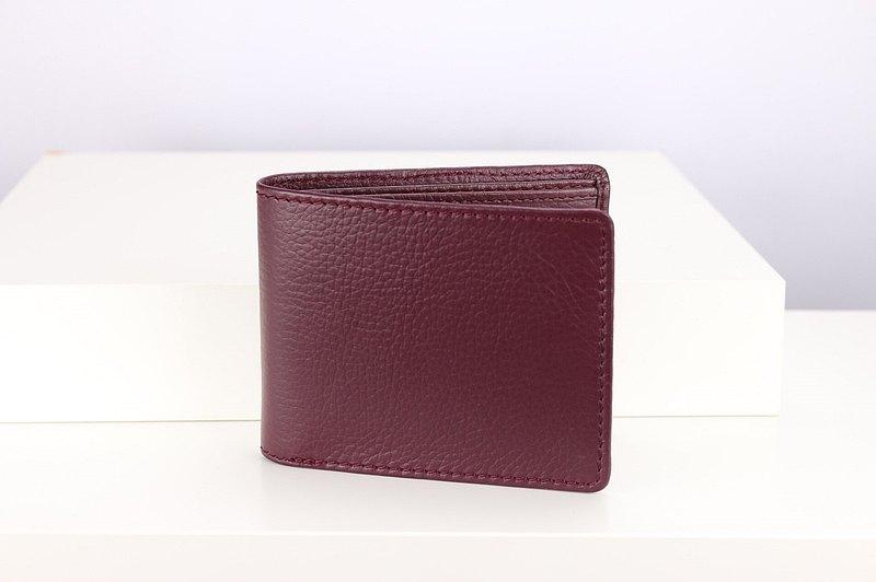 錢包帶卡槽,2面,洋紅色-W008VI