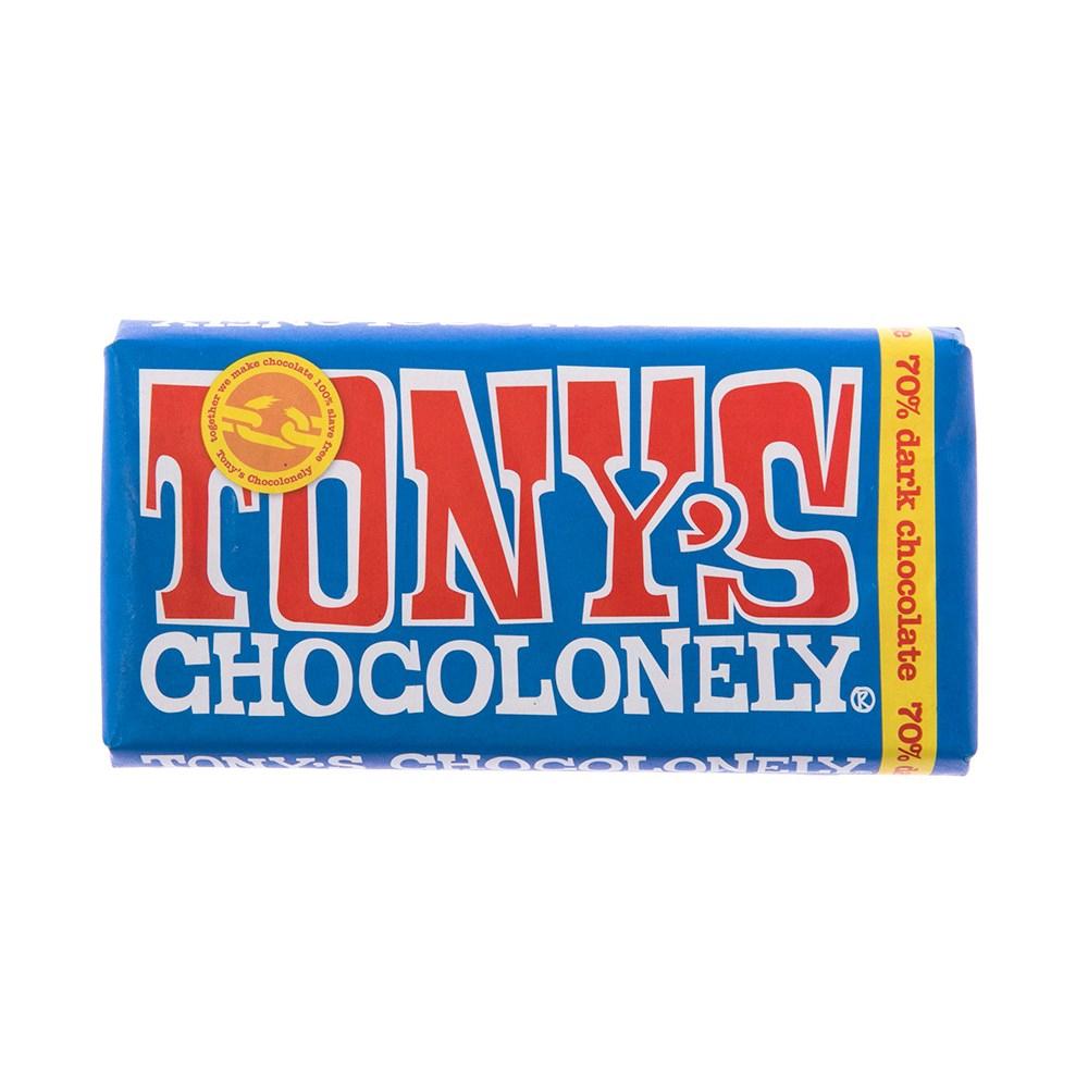 荷蘭Tony's Chocolonely 黑巧克力70%180g