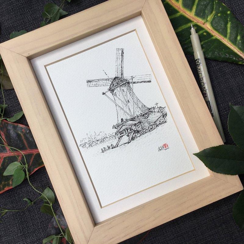 荷蘭風車/手繪原作