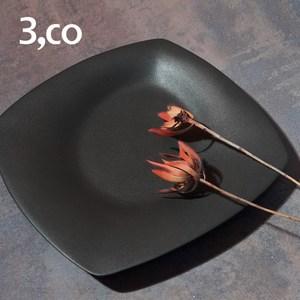 【3,co】海洋四方盤(大) - 黑