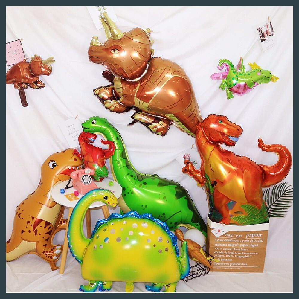現貨恐龍造型鋁箔氣球 侏儸紀 會場佈置 派對 幼稚園 長頸恐龍_綠色氣球快易送