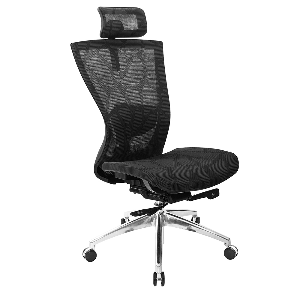 GXG 高背全網 電腦椅  無扶手鋁合金座  TW-81Z5 LUANH
