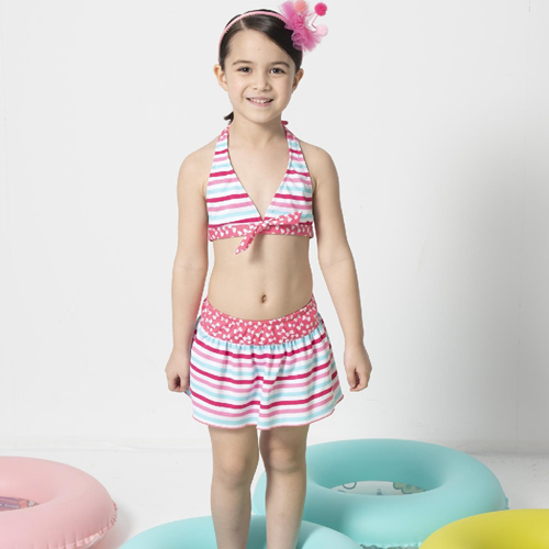 【SARBIS】女童兩截式泳裝附泳帽B822003