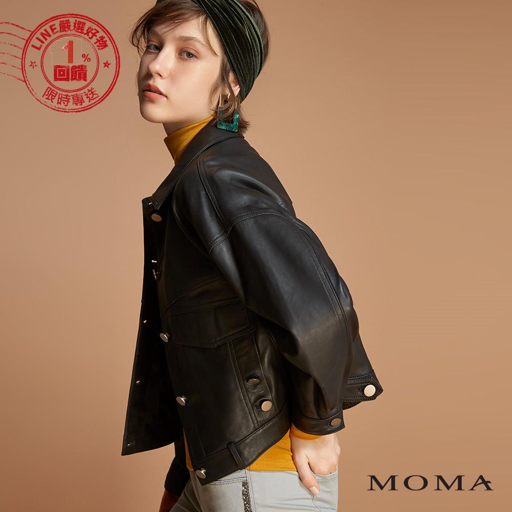 MOMA(92J035)落肩小羊皮外套