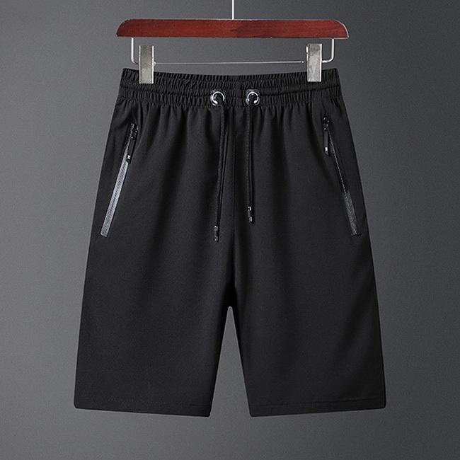 FOFU-短褲韓版休閒直筒沙百搭純色沙灘運動短褲【09G0586】