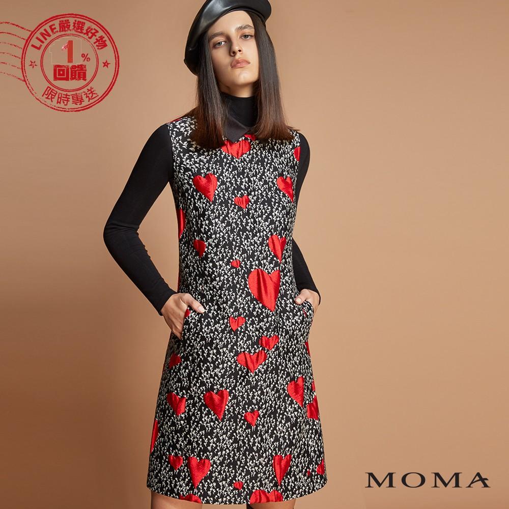 MOMA(92D055)小碎花愛心背心洋裝