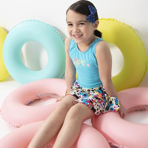 【SARBIS】女童連身裙泳裝附泳帽B882002