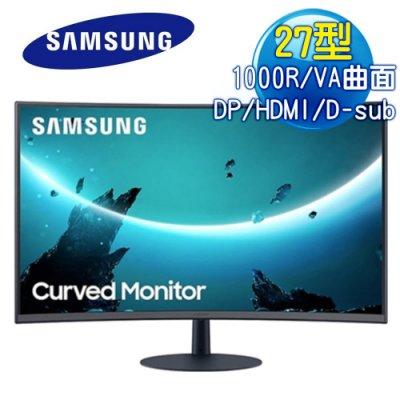 免運費【易飛電腦】SAMSUNG 三星 C27T550FDC 27吋 三邊窄邊 超薄美型 廣視角1000R 曲面螢幕免運