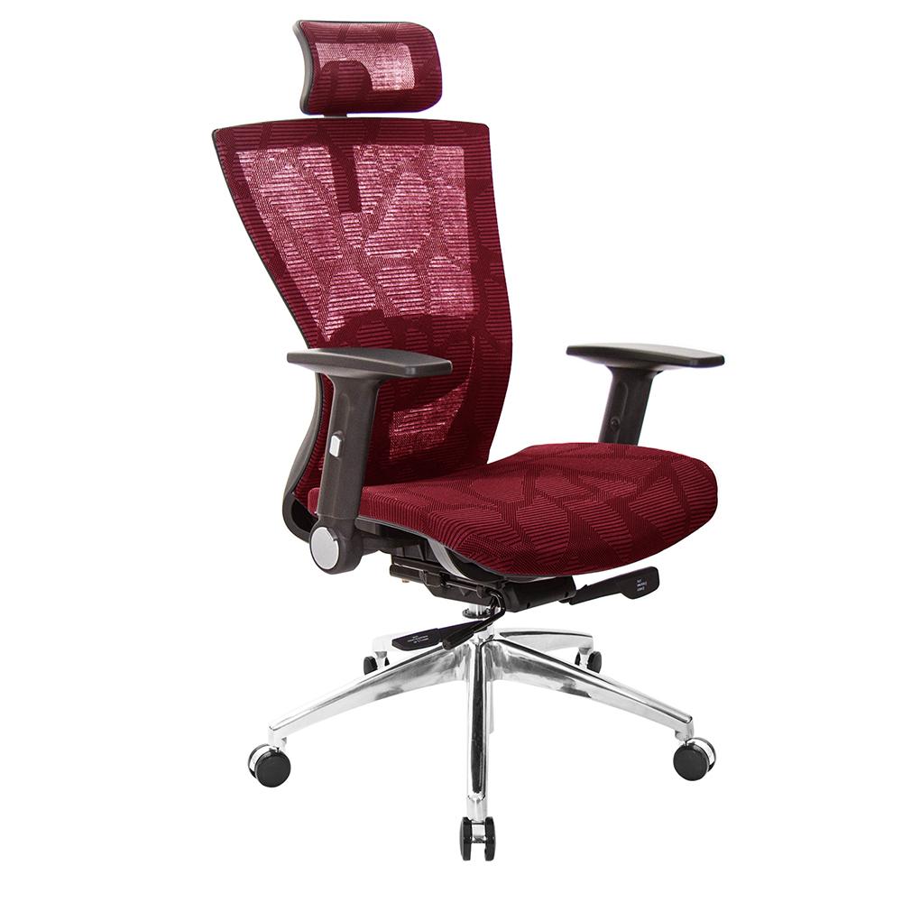 GXG 高背全網 電腦椅  摺疊扶手鋁合金座  TW-81Z5 LUA1