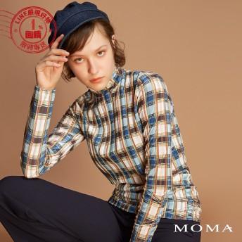 MOMA(92M030)彩格絨質上衣
