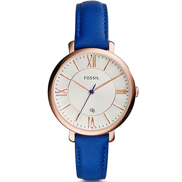 【台南 時代鐘錶 FOSSIL】ES3795 浪漫羅馬 Jacqueline 三針時尚腕錶 馬卡龍鮮色 36mm公司貨開發票