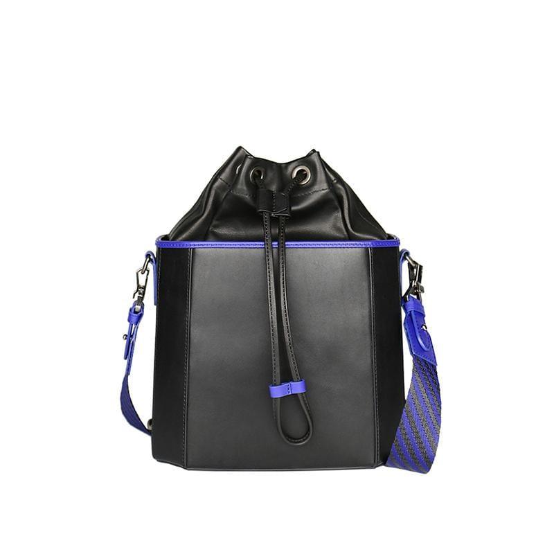 Iris 帥氣八角水桶包 - 紫外光 x 黑