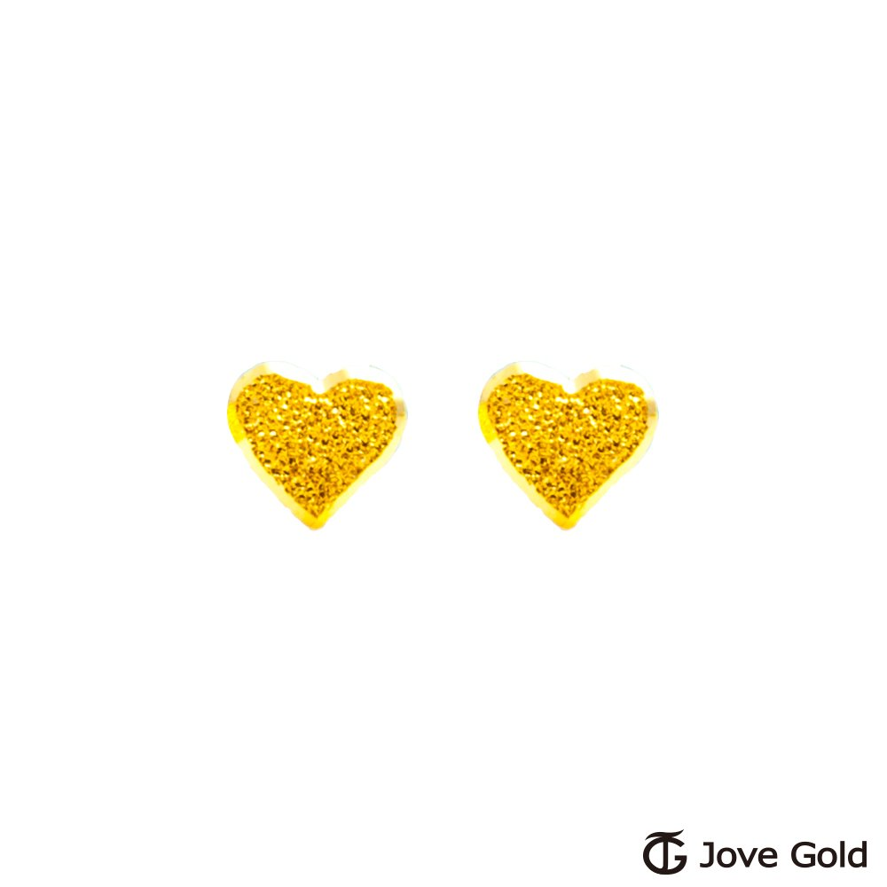 Jove Gold 漾金飾 擁心黃金耳環