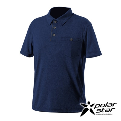PolarStar 男 Coolmax抗菌POLO衫『深藍』P20119