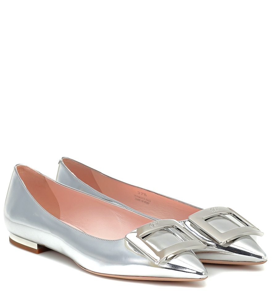 Gommettine Ball leather ballet flats