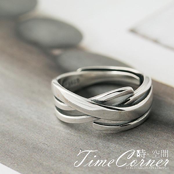 『時空間』立體線條感交叉纏繞造型戒指 -單一色系