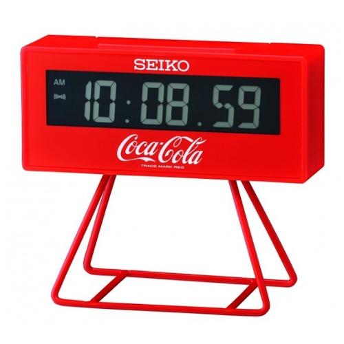 【SEIKO】精工 可口可樂聯名款鬧鐘 電子鐘 QHL901R 嗶嗶聲 日曆 貪睡 燈光