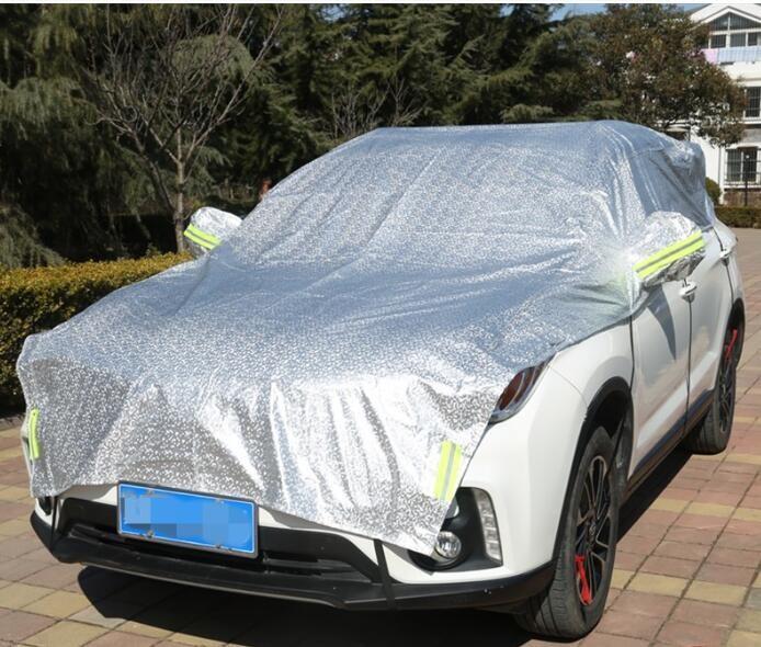 愛車的保護   夏天防曬 防雨  汽車罩 半罩 車衣防曬 遮陽罩 隔熱車套 防塵防雨便捷簡易遮陽