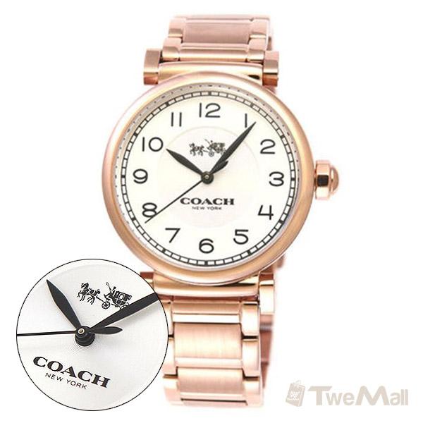 COACH 鋼錶帶 女錶/手錶/腕錶(玫瑰金)