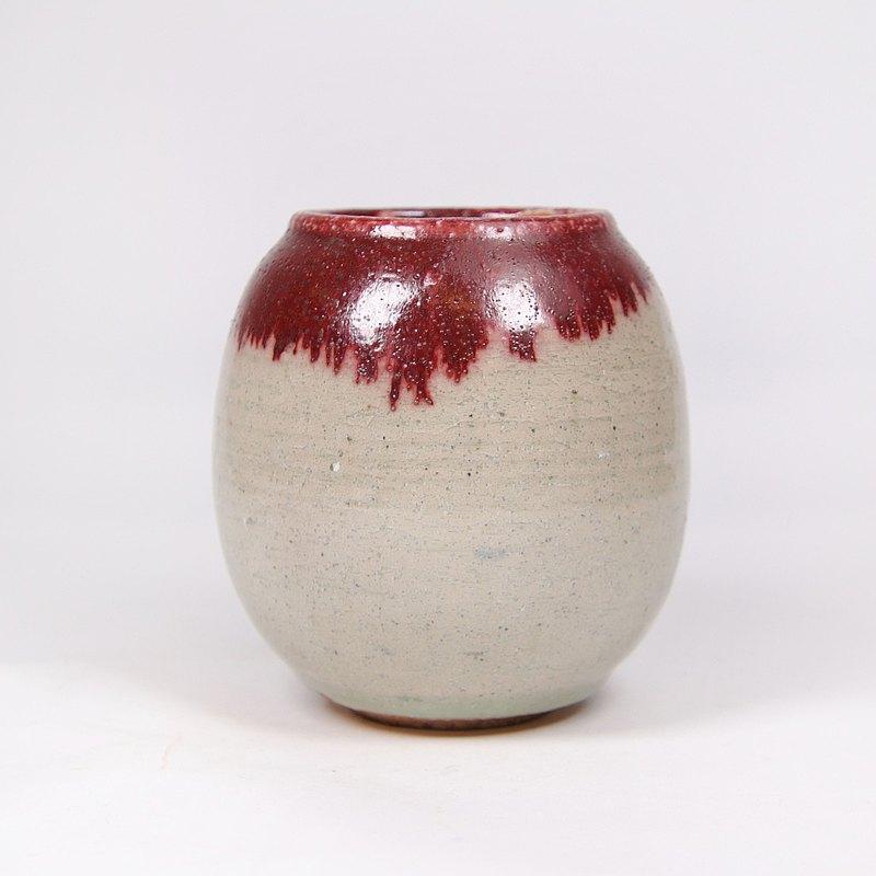 明芽窯 l 青瓷銅紅茶罐(含木蓋)