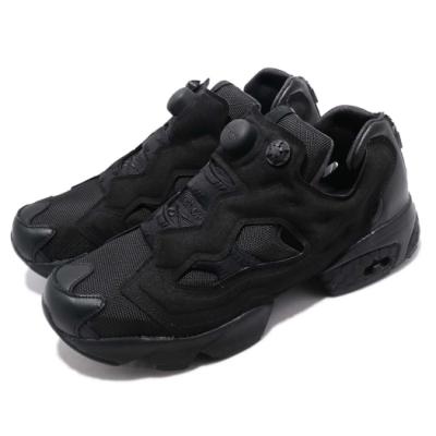 Reebok 休閒鞋 Instapump 復古 銳步 Pump 充氣 後跟拉練 球鞋 黑 男女鞋