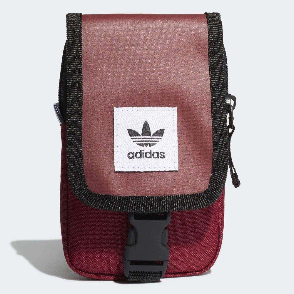 ADIDAS 側背包 Originals Map Bag 愛迪達 經典三葉草 輕便 穿搭 紅 黑 [DV2483]