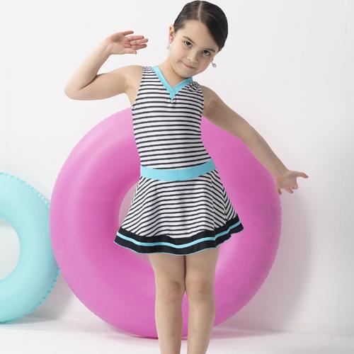 【SARBIS】女童連身裙泳裝附泳帽B882003