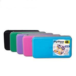 DigiStone冰凍漢堡盒48片硬殼拉鍊收納包五色各1個