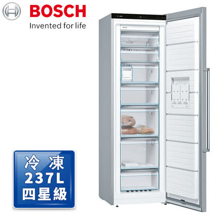 【BOSCH 博世】6系列 220V獨立式冷凍櫃 抗指紋不銹鋼(GSN36AI33D)