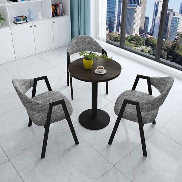 洽談圓桌一桌四椅咖啡桌接待洽談桌椅休閒小圓桌家用現代簡約餐桌椅組合 LX  秋冬新品特惠