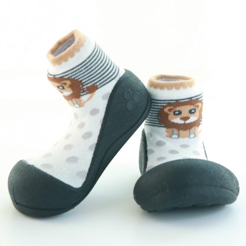 快樂學步鞋-黑底獅子- L