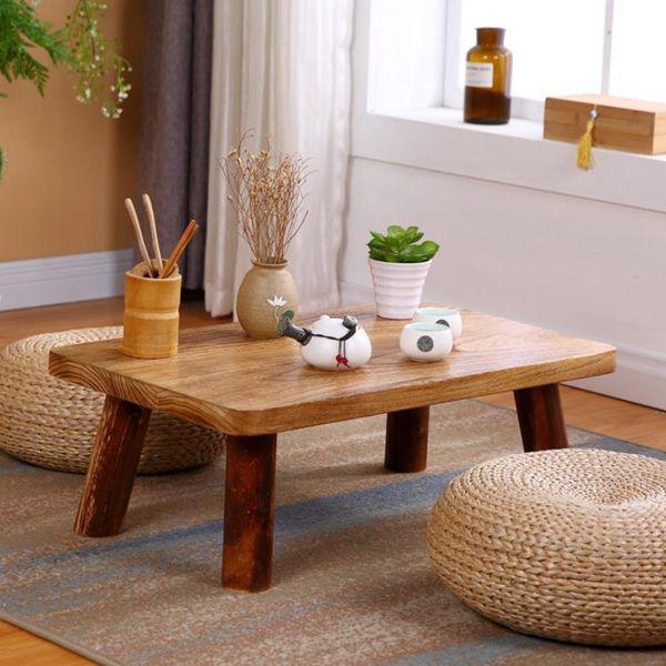 和室桌實木日式飄窗桌榻榻米桌子陽臺小茶幾和室喝茶桌炕幾炕桌地臺矮桌