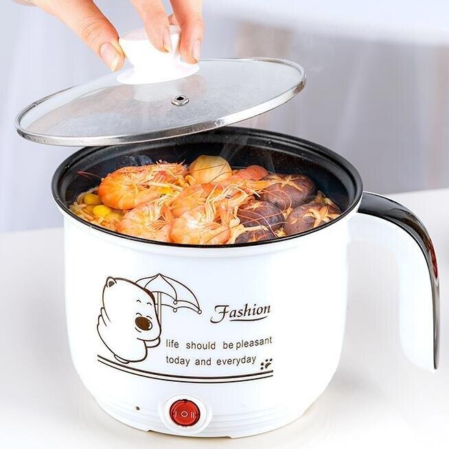電鍋 快煮鍋煎炒小功率電鍋小多功能寢室煮面家用小型電熱鍋 無蒸籠