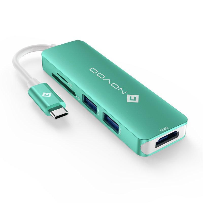 USB-C HUB / 五合一Type-C多功能集線器-綠色
