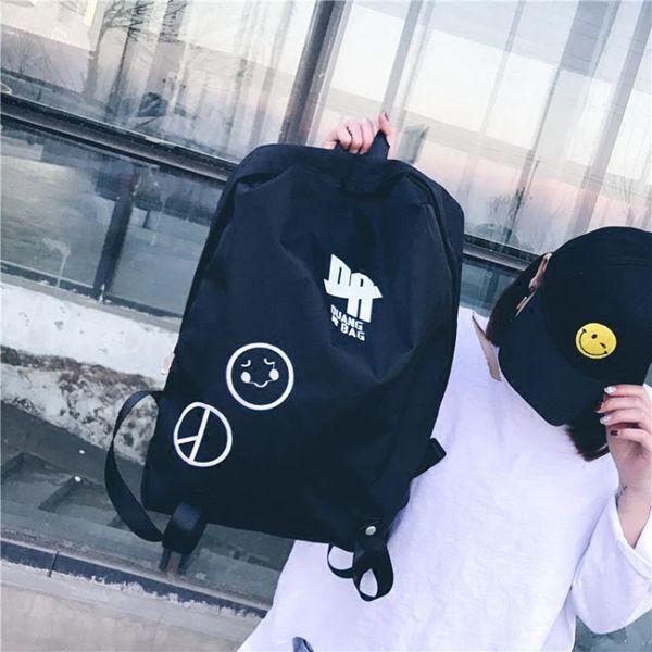 後背包新款韓版原宿背包男女休閒簡約後背包潮流個性學生書包旅行包
