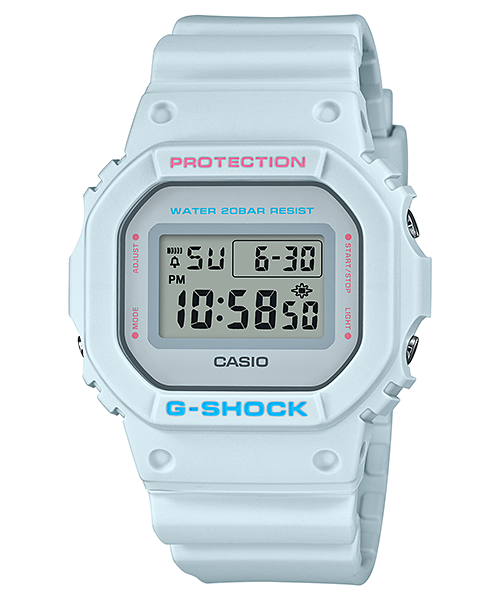 [CASIO卡西歐] G-SHOCK 繽紛5600方塊電子錶 (DW-5600SC-8DR)