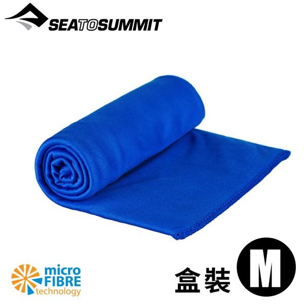 【Sea to Summit 澳洲 口袋型抗菌快乾毛巾《盒裝/豔藍》】STSAABPOCT/速乾毛巾/快乾毛巾/悠遊山水
