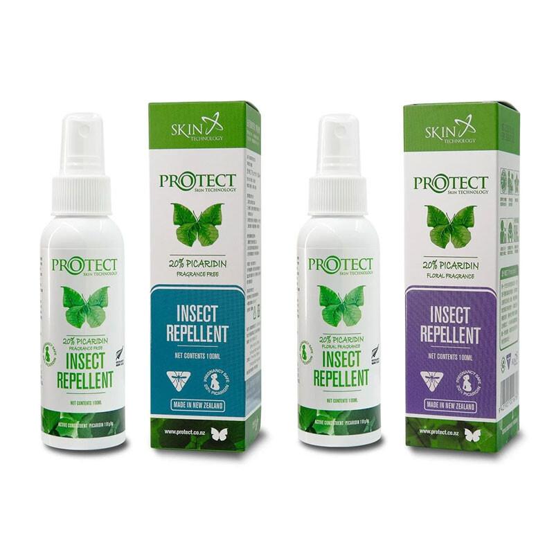 紐西蘭skin technologyprotect 派卡瑞丁 瑞斌長效防蚊液100ml-多入