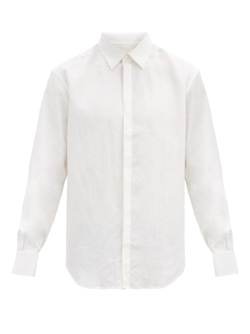 Bourrienne Paris X - Cavalier Linen-poplin Shirt - Mens - White