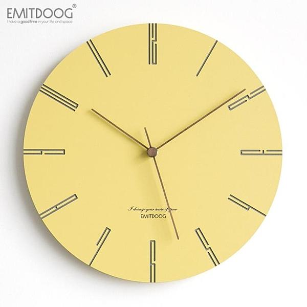 現代簡約家用掛鐘客廳臥室靜音掛表創意潮流時尚北歐鐘表