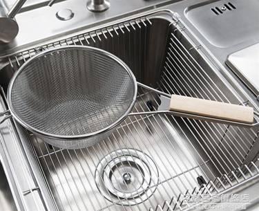 不銹鋼撈籬大漏勺廚房撈面勺油炸撈漏勺麻辣燙撈勺長柄笊籬濾網籃 NMS