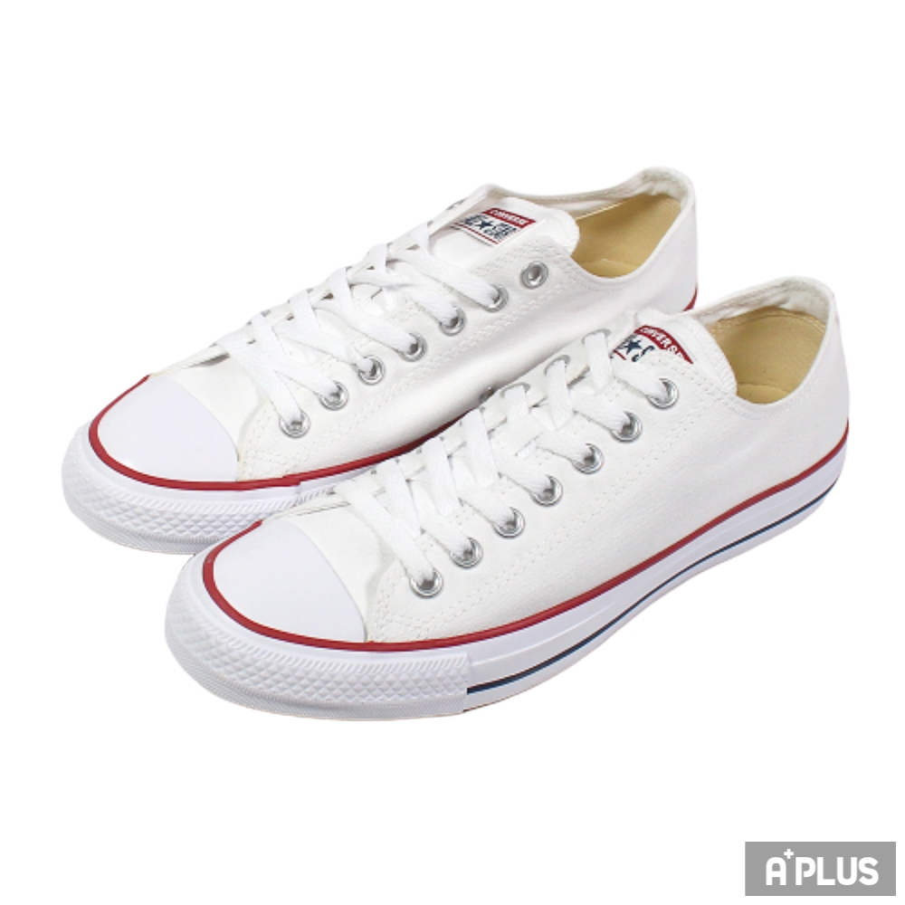CONVERSE 男女 低筒帆布鞋 基本款-低筒白帆布 - M7652C