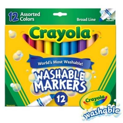 【美國crayola 繪兒樂】可水洗粗頭彩色筆12色