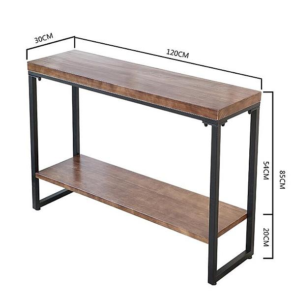 玄關桌櫃 北歐玄關桌簡約現代玄關櫃供桌餐廳條几桌實木條案置物架玄關台QM 圖拉斯3C百貨