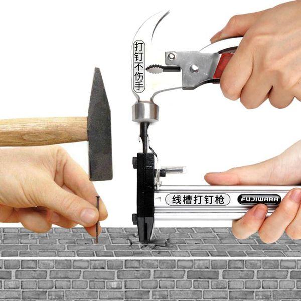 藤原手動打釘槍鋼釘搶直釘水泥射釘槍釘裝線槽打釘器專用裝修工具