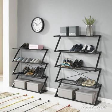 鞋架 簡易多層門廳鞋架現代家用經濟型鐵藝收納架鞋櫃組裝防塵門口鞋架